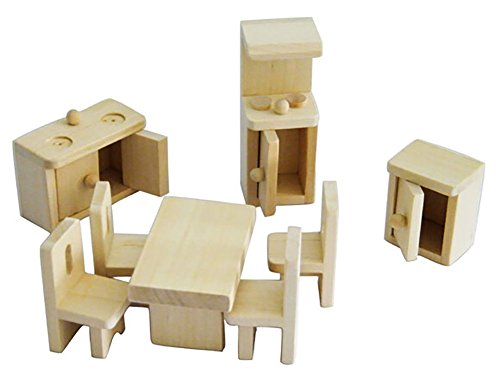 KAILIMENG Wooden Doll House Furniture Toys, Kitchen Set (Stove Dollhouse Kitchen)