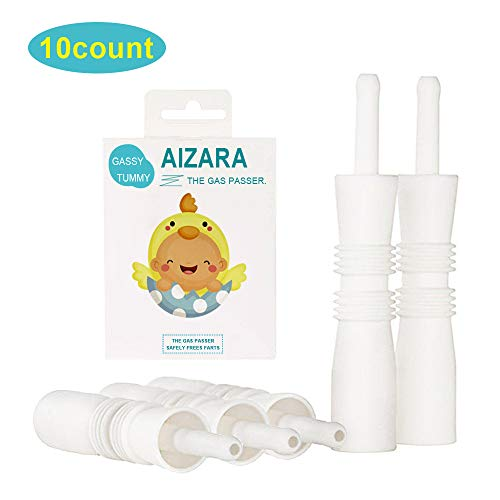 AIZARA Gas and Colic Reliever for Babies - Natural Solution for Baby Colic and Gas Relief - Constipation Relief for Gassy Baby (Baby Gas Relief - 10 Count)