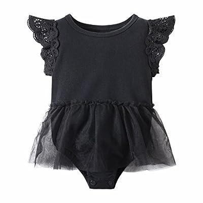 Huata Baby Girls Boys Long Sleeve Onesies Bodysuit Baby Romper