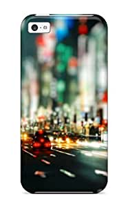 MMZ DIY PHONE CASENew Car Traffic And Pedestrians With Umbrellas Night Tpu Skin Case Compatible With ipod touch 5