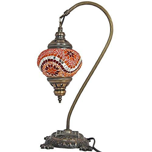 Table Lamp, Mosaic Lamps, Orange Glass, Moroccan Lanterns, Turkish Lamp, Bedside Lighting