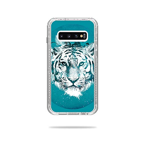 Price comparison product image MightySkins Skin Compatible with Lifeproof Next Case Samsung Galaxy S10+ - White Tiger / Protective,  Durable,  and Unique Vinyl Decal wrap Cover / Easy to Apply,  Remove / Made in The USA