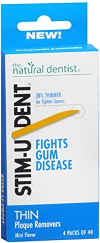 Stim-U-Dent Plaque Removers Thin Mint 160 Each (Pack of 2) (Mint Removers Stimudent Plaque)