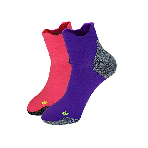 Athletic Socks 2 Pairs No Show Low Cut Sport Socks Workout Runnning Socks for Women Large Size
