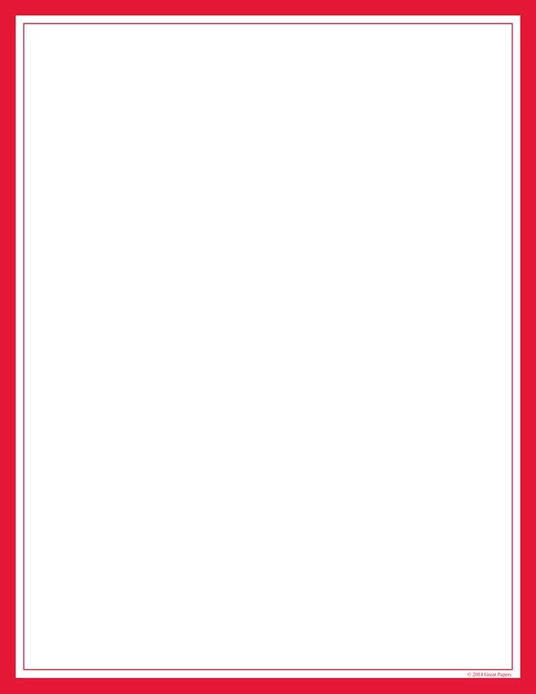 Great Papers! Red Border Letterhead, 8.5