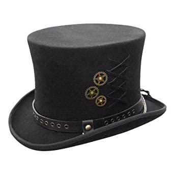 Australian Wool Steam-Punk Top Hat