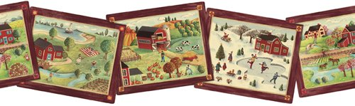 Country Seasons Diecut Wallpaper Border…