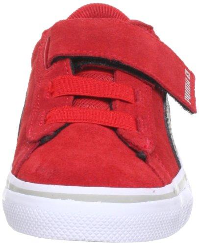 Puma Kds Vulc Lifestyle - Zapatillas con cierre de velcro Rot (high risk red-black-gray 29)