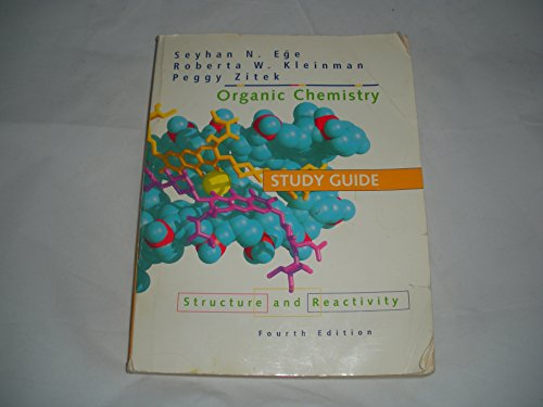 Study Guide for Organic Chemistry: Structure and Reactivity