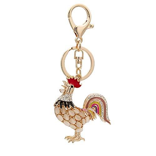 WenWenzui-DE-DE - Llavero con diseño de Gallo de Animales ...