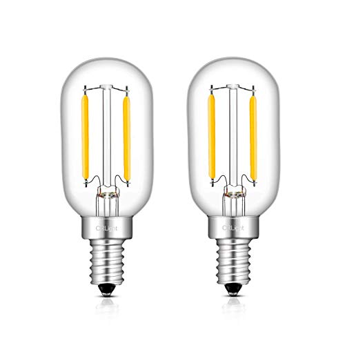 CRLight 1W 4000K LED Candelabra T22 Night Light Bulb Daylight (Neutral White), 150LM 15W Incandescent Equivalent Replace 2W Compact Fluorescent CFL Bulbs E12 Base Mini Tubular, Non-dimmable, 2 Pack