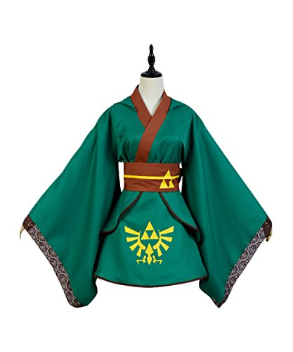 UU-Style Girl's Dress Kimono The Legend of Zelda Link Coat Top Skirt Outfit Suit Uniform Cosplay Costume