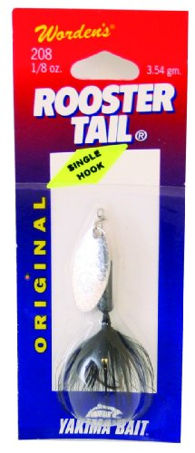 Wordens 208S-BL Original Rooster Tail Spinner Lure, 2 1/4-Inch, 1/8 -Ounce