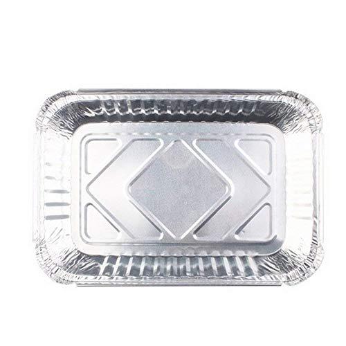 Kaptin 30-Pack Aluminum Drip Pans, Foil Steam Table Deep Pans,Foil BBQ Grease Pans, 7