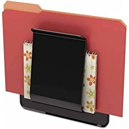 deflecto Stand Tall Wall File, Legal/Letter/Oversized, One Pocket, Black