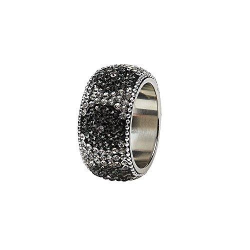 IMPULSE! Dahlia Napkin Ring (Set of 4) Black [並行輸入品]   B079VGSPTD