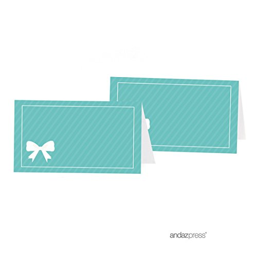 Andaz Press Table Tent Place Cards, Party & Co Blank, 20-pack, For Themed Party Favors, Diamond Inspired Table Settings, Decor, Decorations]()