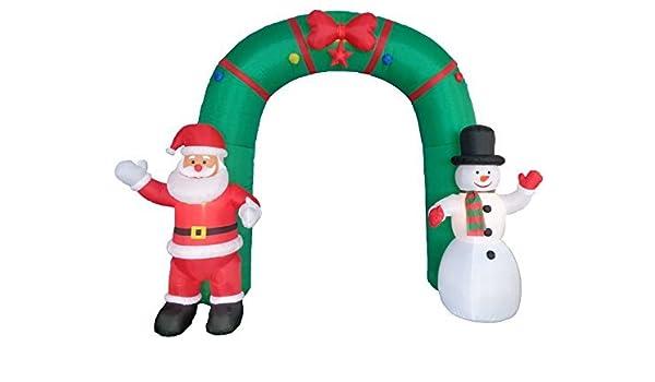 10 pies de altura con luz de la Navidad arco hinchable con ...