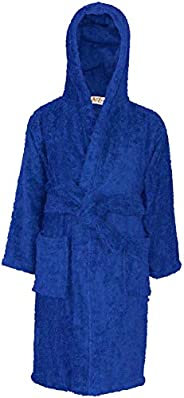 a2z4kids Kids Girls Boys Cotton Soft Terry Hooded Bathrobe Luxury Dressing Gown 3-13 Year