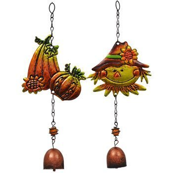 [Fall Harvest Metal Bell Wind Chimes Perfect for Gardens, Porches, Patios, Gazebos, Harvest Thanksgiving Decoration (Set of] (Homemade Ty Beanie Baby Costumes)