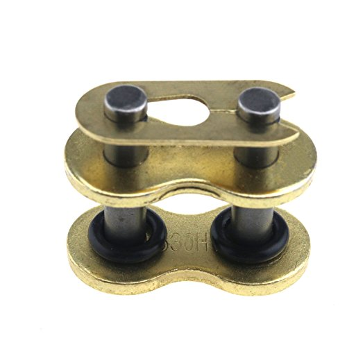 530 VX Ring Chain Rivet Joining Link Gold Motocycle Motobike Chains Universal ()