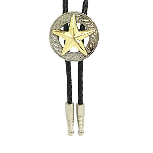 - KeCol Adult Mens Long Star Texas Western Bolo Tie Necktie Necklace