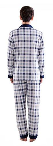 Pajama Pezzi Pigiameria Notte Uomo Pigiama Set Blue Usura Pj 3 2 Due A6f4nS4