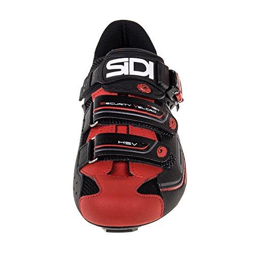 Sidi Genius 7 Straßenschuhe Schwarz Rot