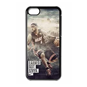 XiFu*MeiDiyCaseStore NBA Miami Heat superstar LeBron James iphone 4/4s Well-designed Hard Case Cover ProtectorXiFu*Mei