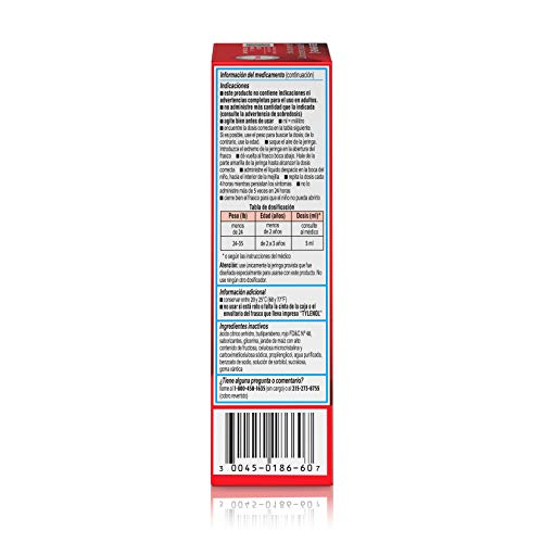 Infants' Tylenol Pain Reliever-Fever Reducer, Oral Suspension, Cherry Flavor, 2 Fluid Ounce
