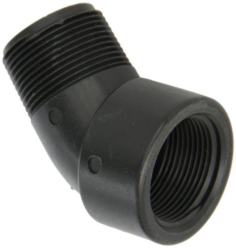 Banjo SL125-45 Polypropylene Pipe Fitting, 45 Degree Street Elbow, Schedule 80, 1-1/4 NPT Female x NPT Male