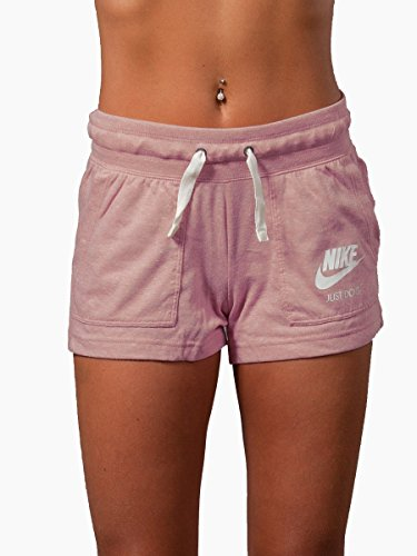 NIKE Womens Gym Vintage Shorts Rust Pink/Sail 883733-685 Size Small by NIKE
