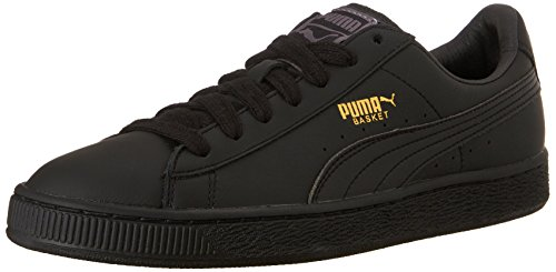 - PUMA Men's Basket Classic LFS Fashion Sneaker Black/Team Gold 12 M US