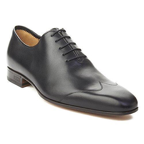 Gucci Men's Crossgrain Leather Oxford Dress Shoes Black (Mens Leather Gucci Shoes)