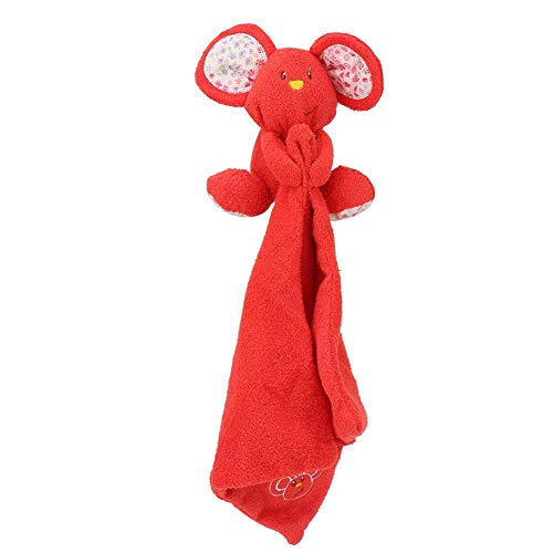 Baby Soothe Towel, Newborn Appease Soft Cute Mouse Toy Towels for Pacifying Emotion(Red)