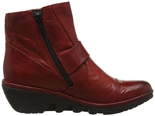 FLY London Pais655fly, Botines para Mujer Rojo (Red 004)