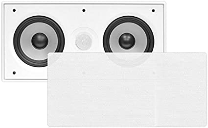 "Pyle PDIWCS56 In-Wall//Ceiling Dual 5.25/"" Center Channel Speaker System-White"
