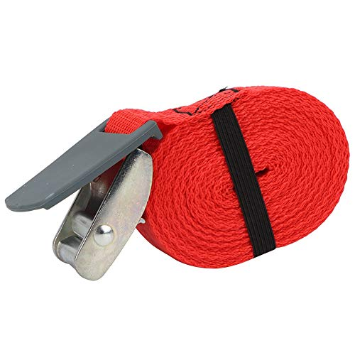 Alomejor Ratchet Straps 3.6m Tie Down Strap Carrying Strap Lashing Strap with Quick Release Cam Buckle for Motorcycle Cargo Trailer Truck (Red)
