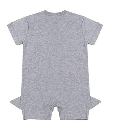 Stylesilove Baby Boy Shark Print Short Sleeves Cotton Romper