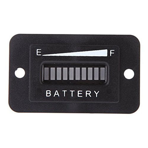Price comparison product image Square Battery Indicator - SODIAL(R) 36 Volt Golf Cart Digital LED Battery Status Charge Indicator Monitor Meter Black