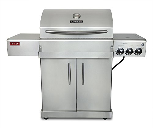 Chef's Grill IR2818-1 61500 BTU Two Infrared Ceramic Burners LP Grill with Side Burner (Ceramic Chefs)