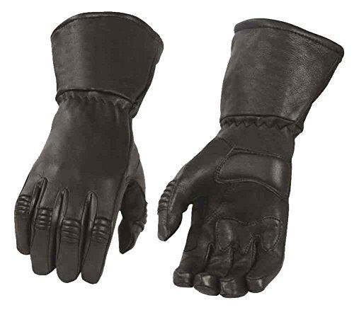 Milwaukee Leather Men's Deerskin Thermal Lined Gauntlet Gloves, Black G039 (2XL)