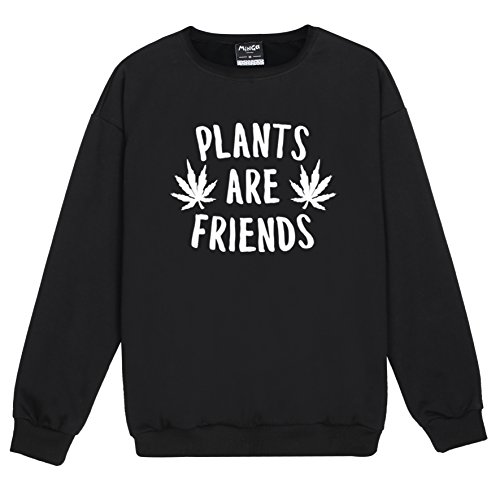 Plants Are Friends Sweater Top Women's Cannabis Weed Vegan