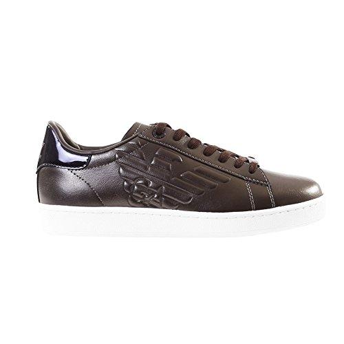 Antra Sportive 8 Leather Texture Ea7 Sneakers Uomo 633342 Da Action Scarpe 00078 xqTCnSw6P