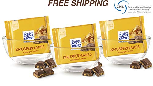 (Milk chocolate with Cornflakes 3 x 100 g, Ritter Sport/Germany)