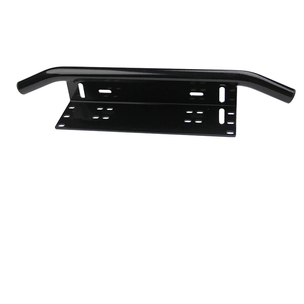 Universal License Plate Mounting Bracket Front Bull Bar Bumper for Led Light Bar No lights LED Work Lamps Lighting Bars Black A Black