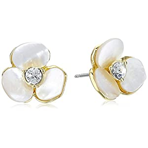Kate Spade New York Womens Disco Pansy Studs