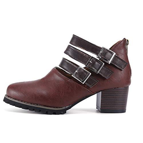 Para Mujer Marrón Sandalias Caucho De Women's Shoes Smony Vestir nwqA6BFw1