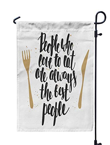 Shorping Decorative Outdoor Garden Flag, 12x18Inch Card with Drawn Unique Typography Design Element Greeting Cards for Holiday and Seasonal Double-Sided Printing Yards Flags]()
