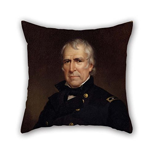 Artsdesigningshop Oil Painting James Reid Lambdin - Zachary Taylor Pillow Covers 16 X 16 Inches / 40 by 40 cm for Divan Bf Study Room Kids Study Room Play Room with Two Sides